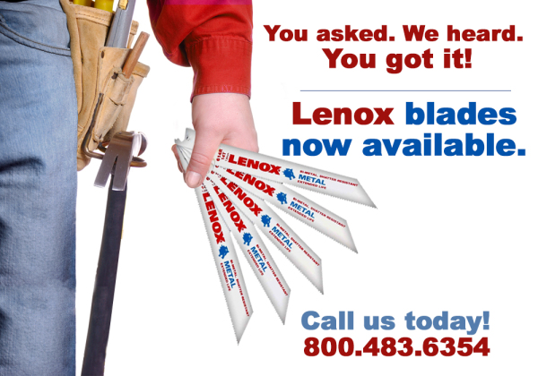Lenox blades graphic call us today