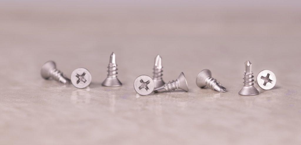 stainless self drilling screw phillips flathead