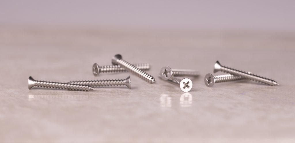 stainless sheet metal screws flat head