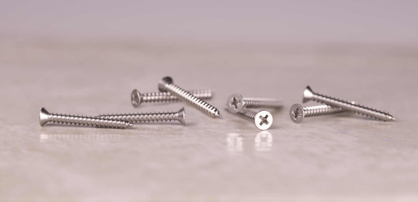 stainless sheet metal screws flat head