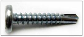 panel clip screws pancake head sds zinc
