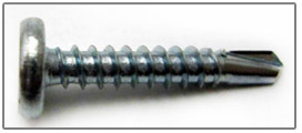 phillips pancake head panel clip self drilling screw