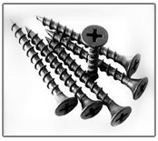 drywall screw phillips bugle head coarse black