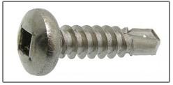 phillips square pan head tek screw