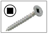 Square bugle head dacro decking screws