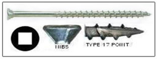 square flat trim head 305 stainless deck screw