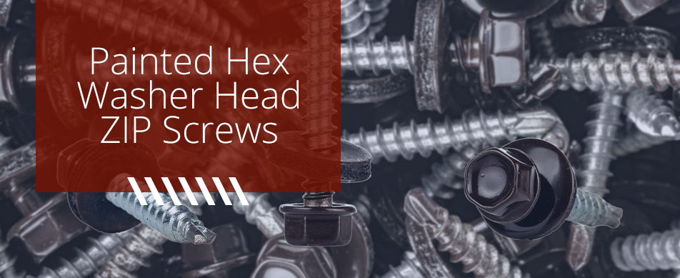 painted HEX washer head Screw