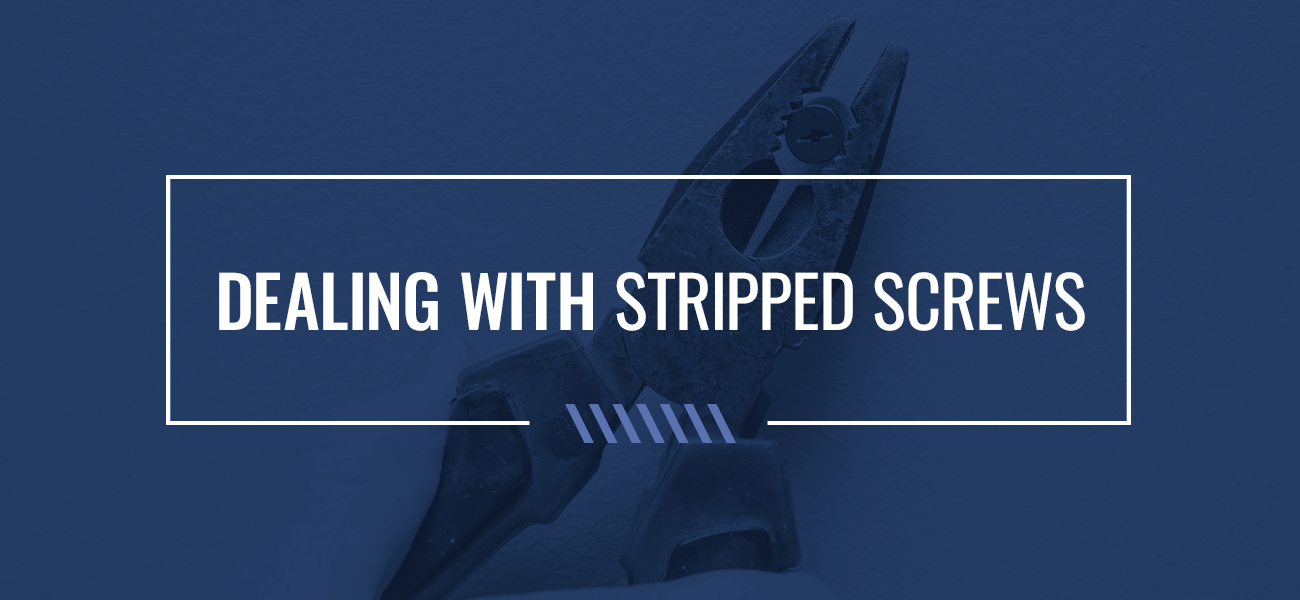 dealing with stripped screws